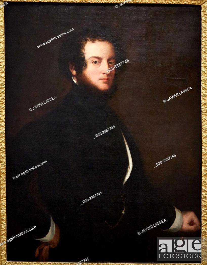 """Stock Photo: """"Autoportrait"""""""", 1845, Alfred, Comte d'Orsay, Petit Palais Musée des Beaux Arts de la Ville de Paris, France, Europe."""
