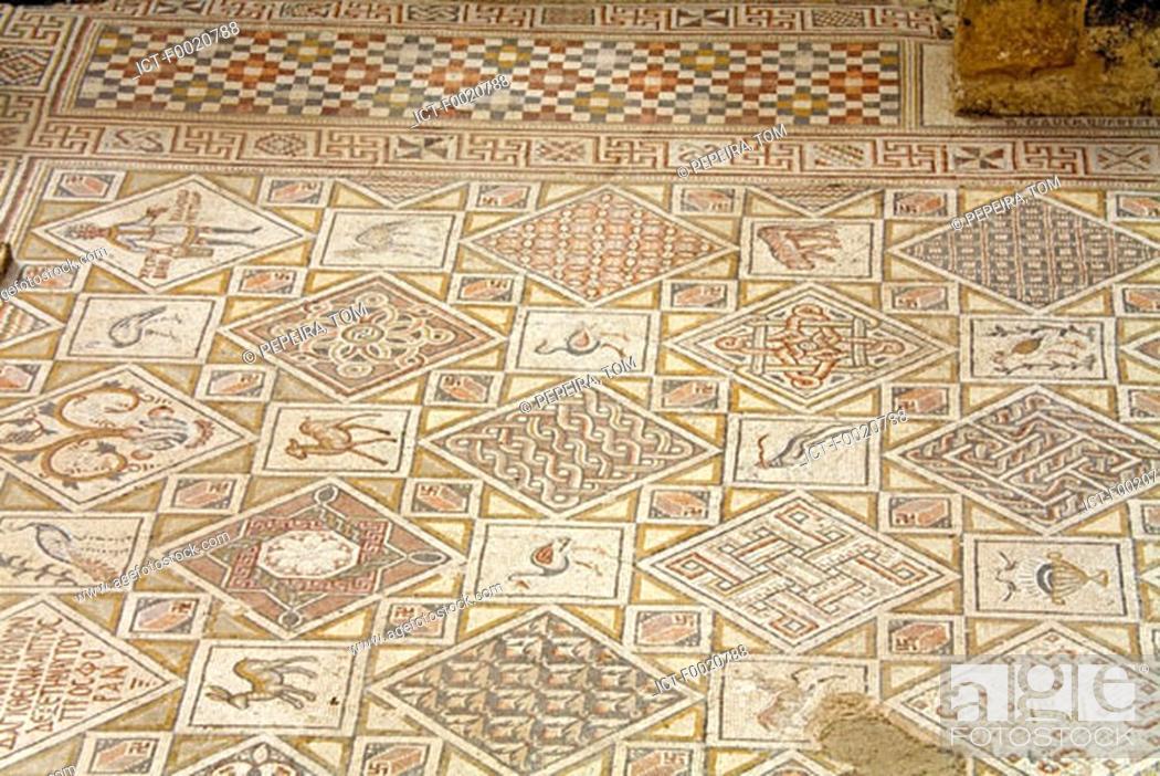 Stock Photo: Jordan, Jerash, vestige of Byzantine church.