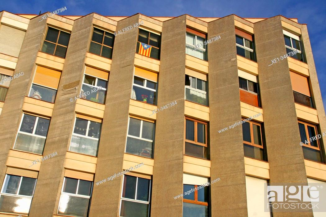 Stock Photo: Apartment building, Barceloneta neighborhood, Barcelona, ??Catalonia, Spain.