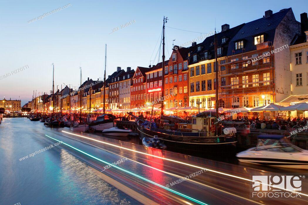 Stock Photo: Nyhavn canal in Copenhagen, Denmark.