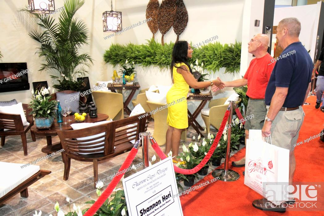 Stock Photo   Florida, Miami Beach, Miami Beach Convention Center, Home  Design And U0026 Remodeling Show, Buyers, Sellers, Exhibitors, Vendors,  Shopping, Decor, ...