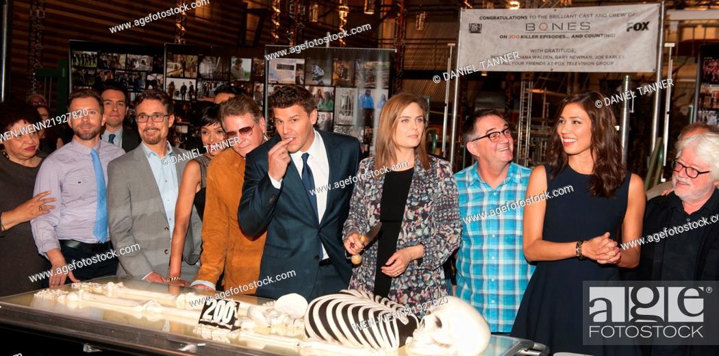 The cast and crew of FOX's hit show 'Bones' celebrate