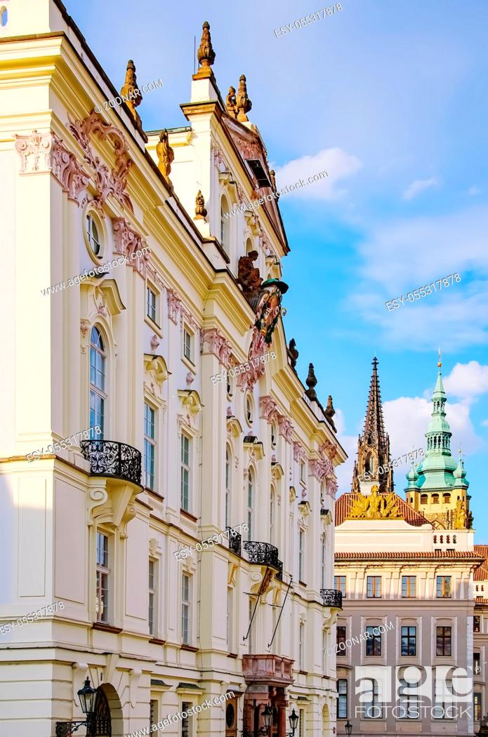 Photo de stock: Building in Historical Center of Prague, Czech Republic.