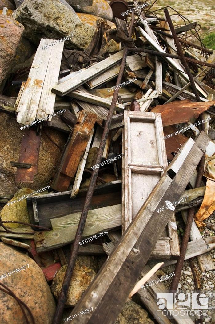 Stock Photo: Close-Up, Day, Heap, Iron Rods, Metal.
