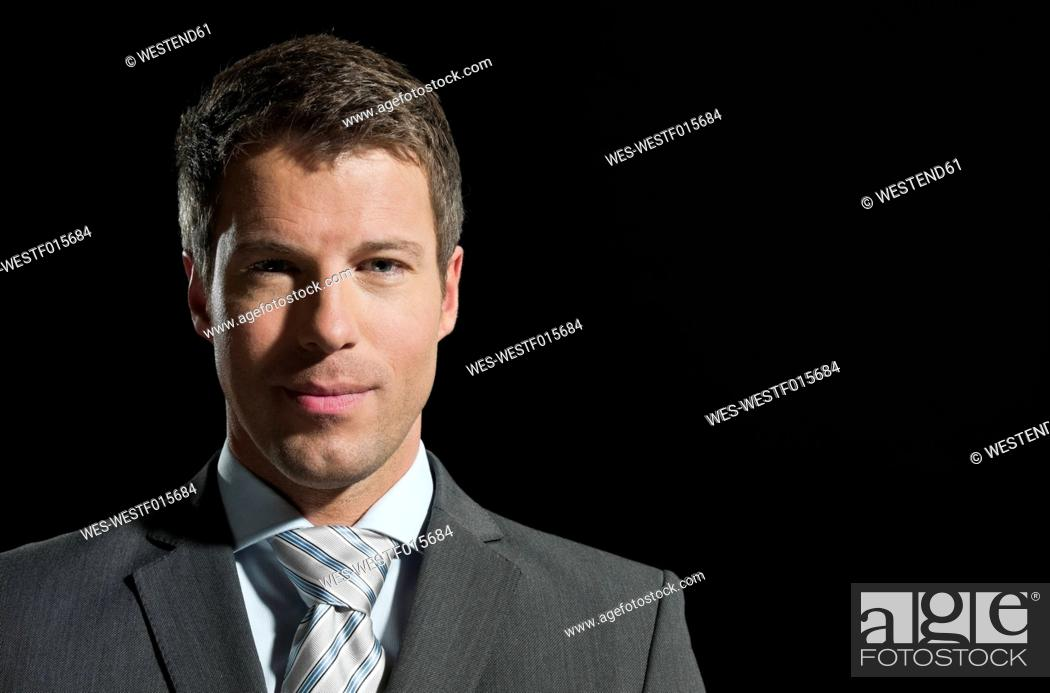 Stock Photo: Portrait of mid adult man, close up.