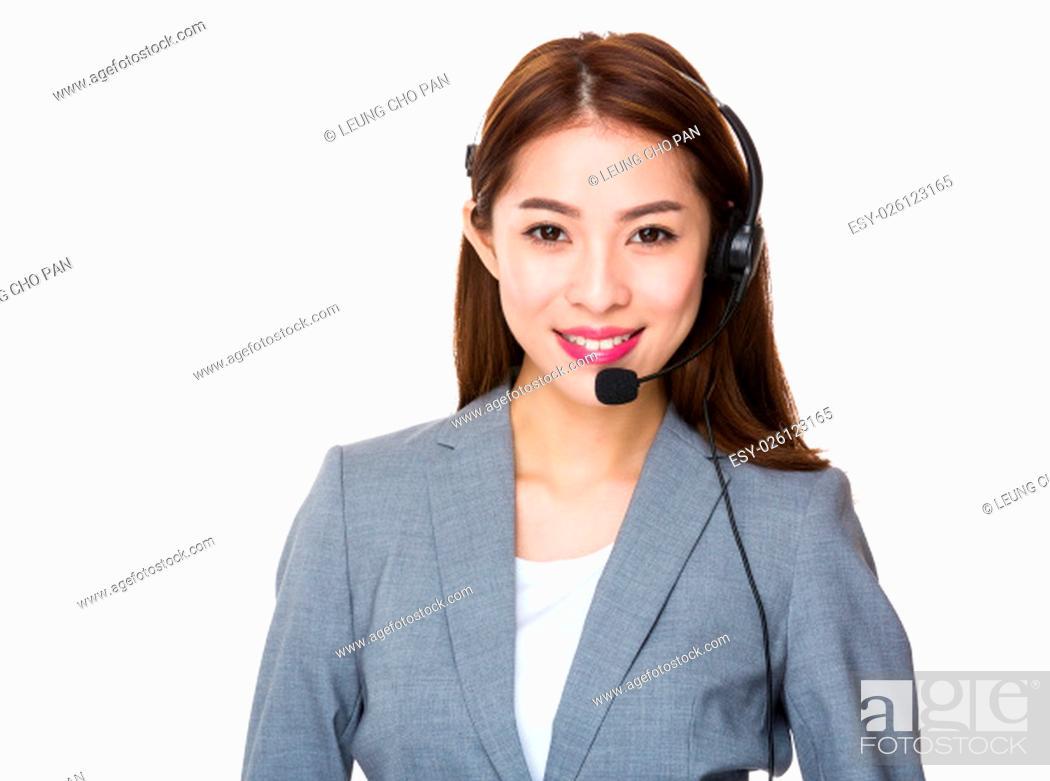 Stock Photo: Customer services consultant.