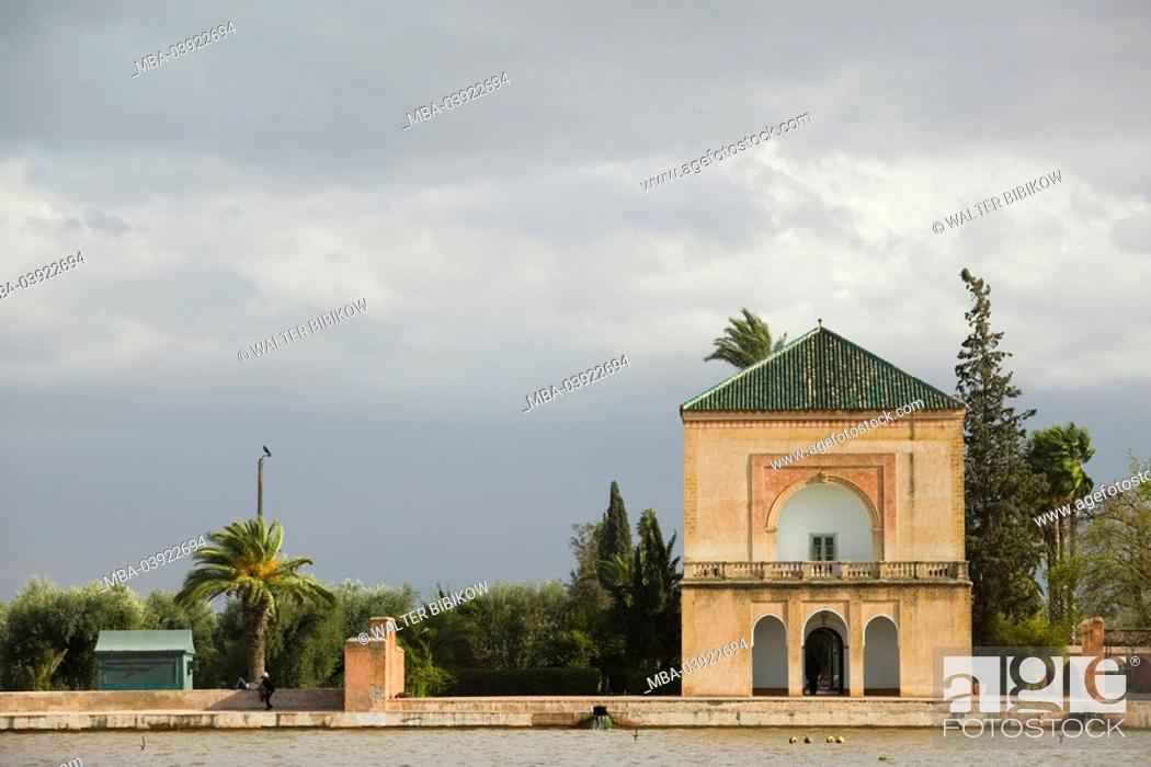 Morocco Marrakech Jardin Menara Pavillion Africa North Africa