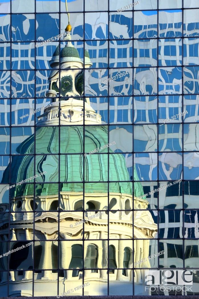 Stock Photo: Abstract reflections of the historic Old Courthouse in St Louis, Missouri.