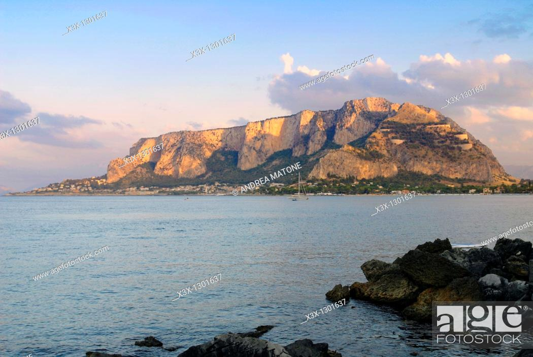 Stock Photo The Mondello Beach Resort Palermo Sicily Italy