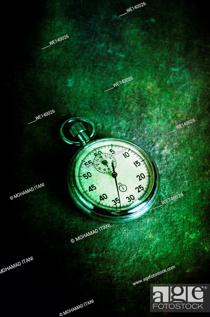 Stock Photo: Antique pocket watch.