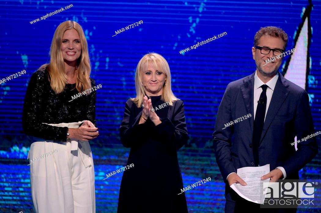 Imagen: Fabio Fazio, Luciana Littizzetto, Filippa Lagerback milano, 01-10-2019.