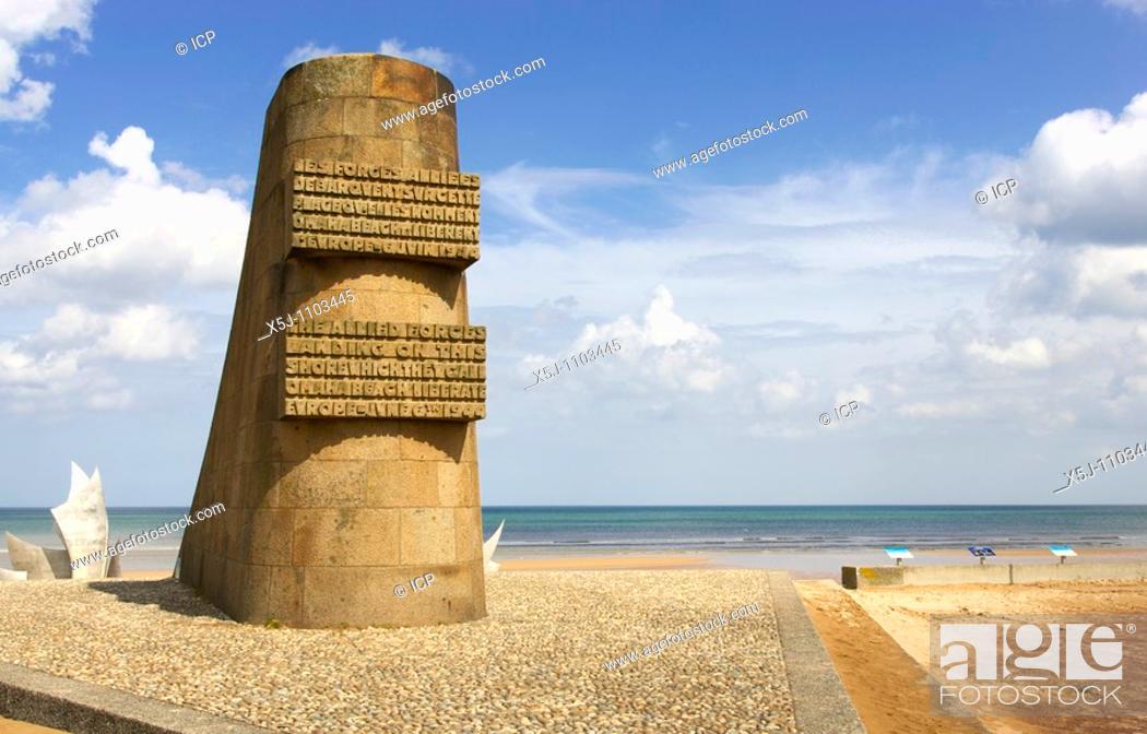 Stock Photo Dday Memorial At Omaha Beach Normandy France