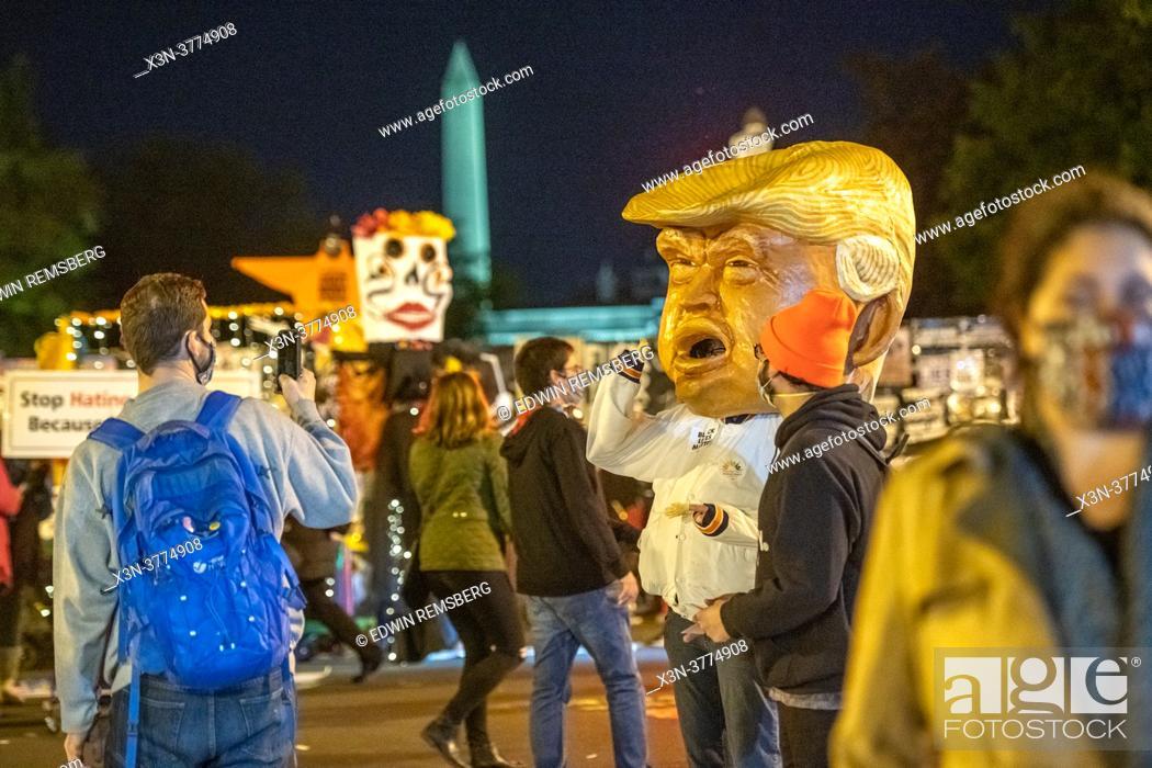 Stock Photo: Election Night 2020 in Washington DC.