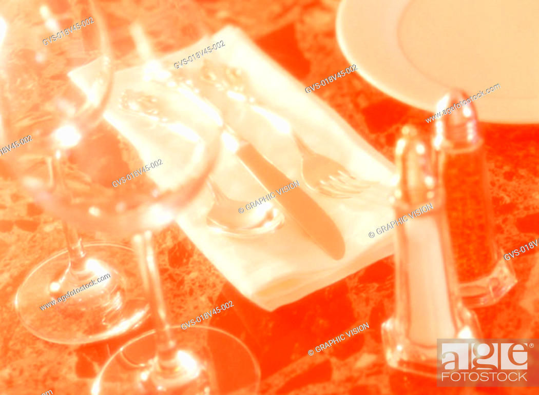 Stock Photo: Close Up of Place Setting.