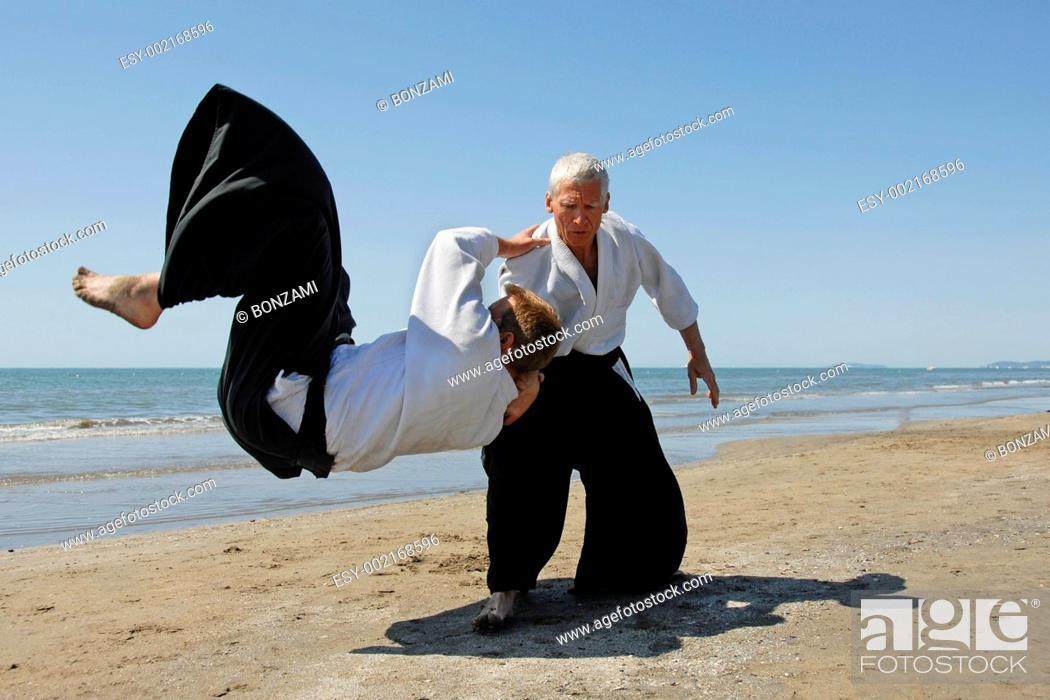 Stock Photo: Aikido.