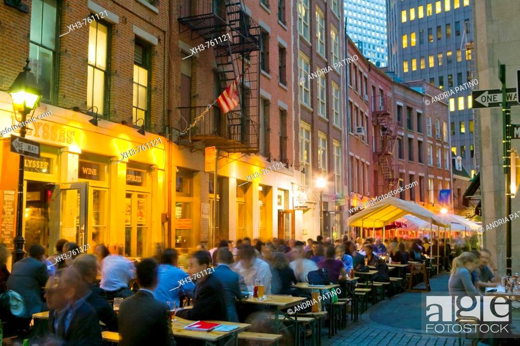 Stock Photo: Stone Street Taverns.