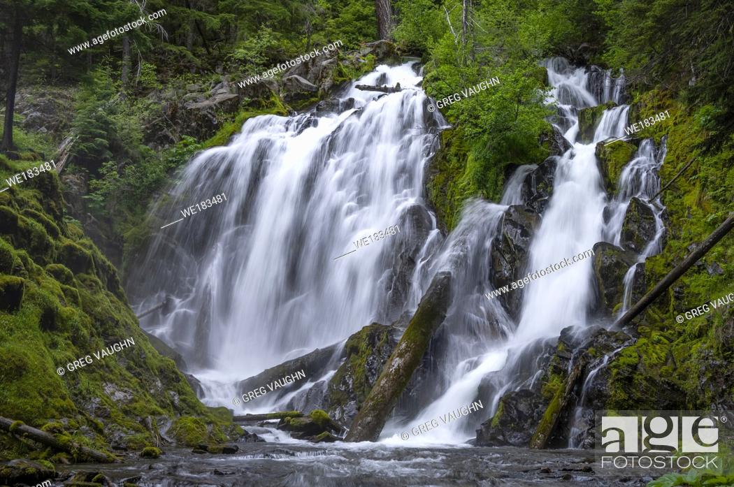 Stock Photo: National Creek Falls, Rogue River National Forest, Oregon.