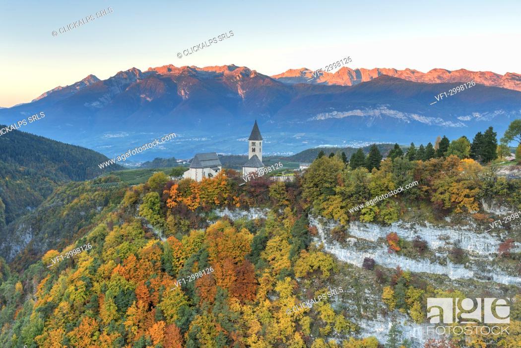 Stock Photo: Church of San Martino in Non valley.