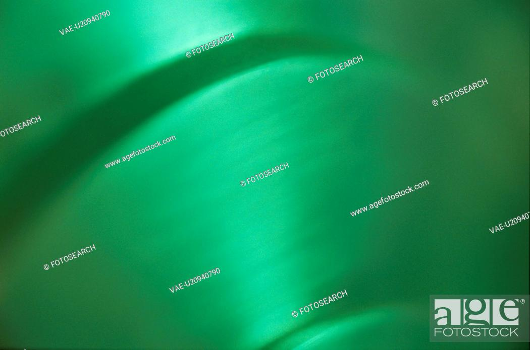 Stock Photo: Green Surface With Curves.