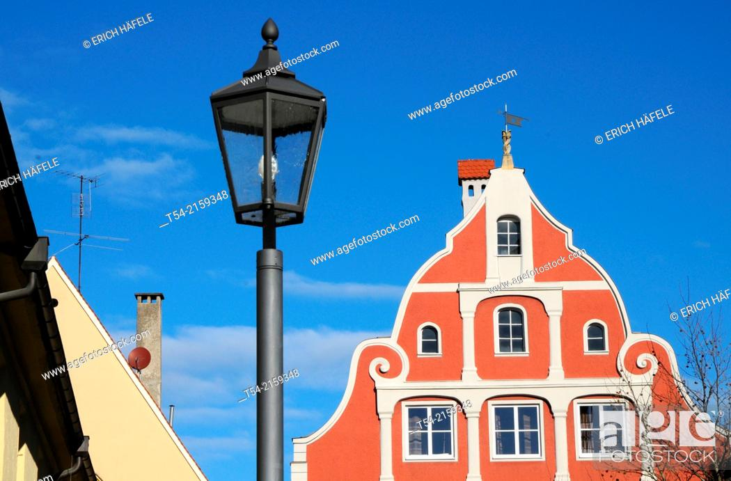 Stock Photo: The Gasthof zum Schwanen in Memmingen / Memmingen, Germany.