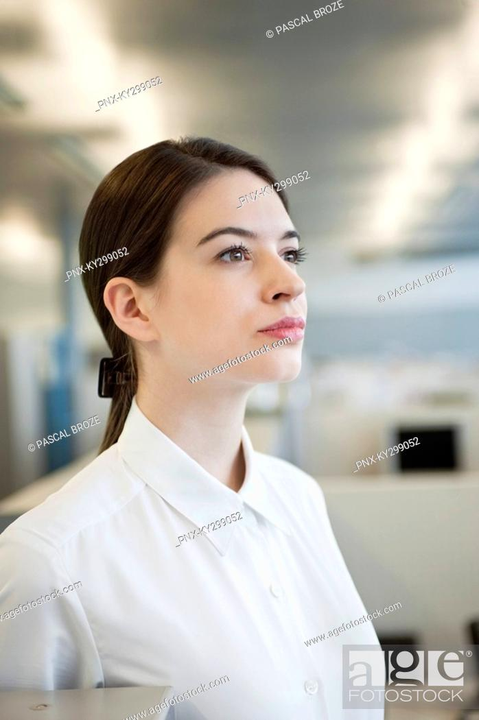 Stock Photo: Close-up of a businesswoman.