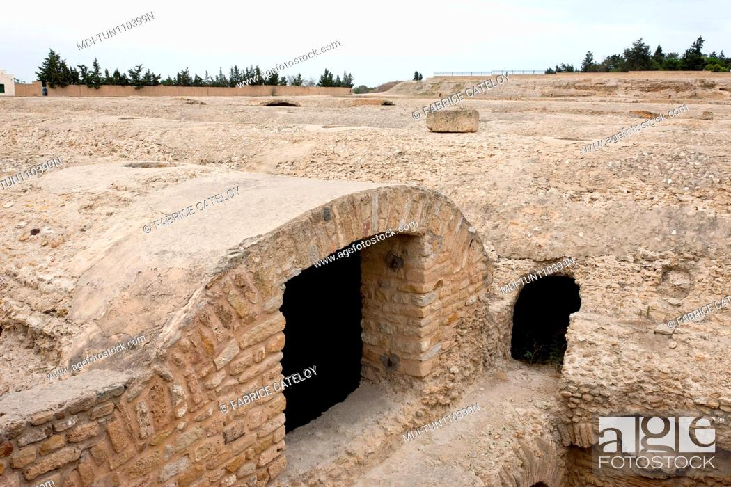 Stock Photo: Tunisia - Carthage - Citerns of La Malga.