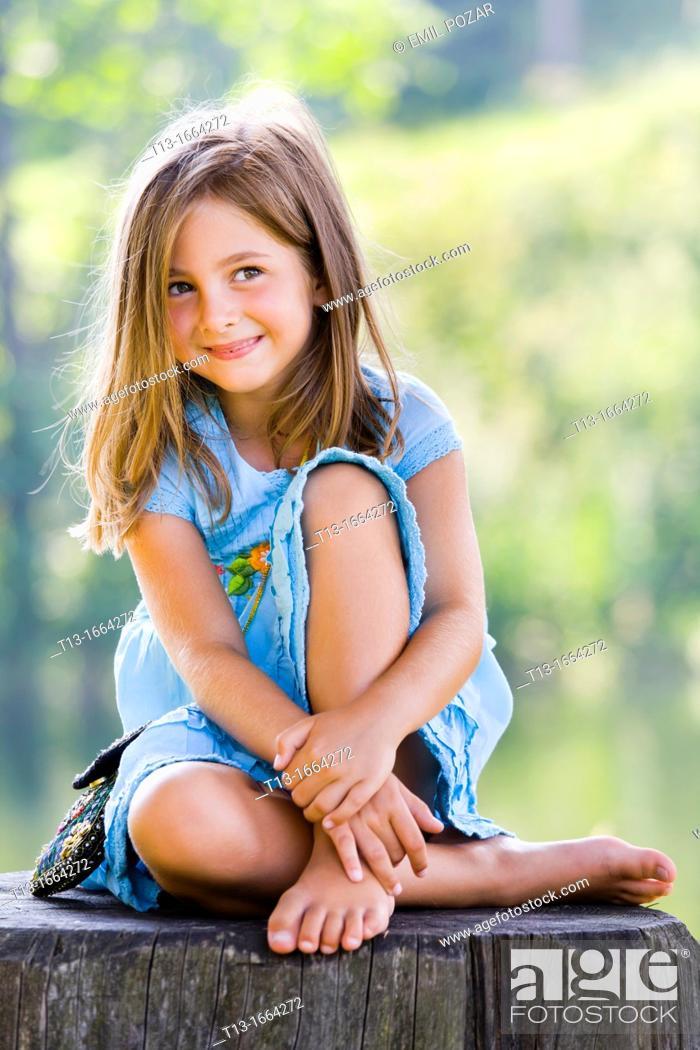 Stock Photo: Cute 6 year old female kid.