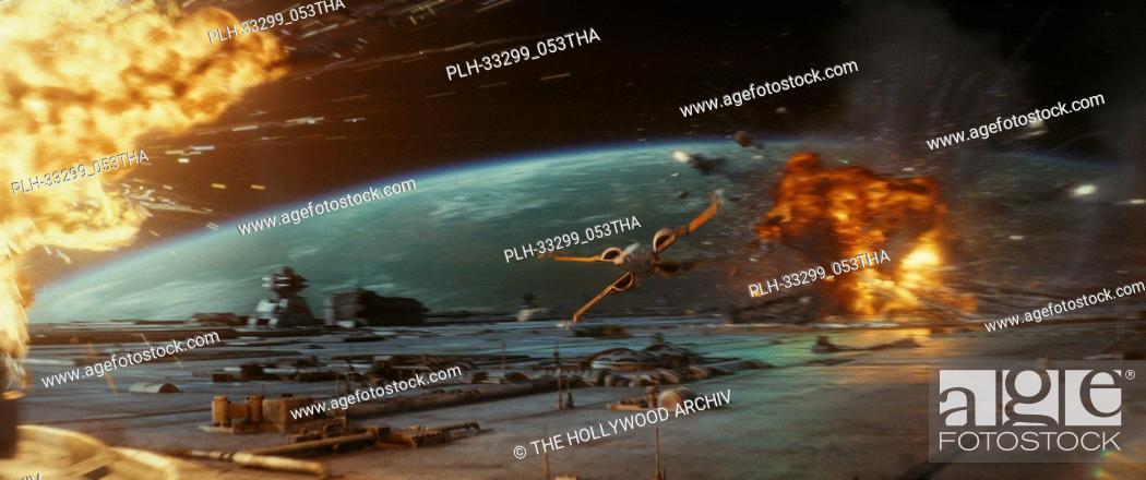 "Stock Photo: """"""Star Wars: The Last Jedi"""" (2017) Poe's Resistance X-Wing. Lucasfilm Ltd."