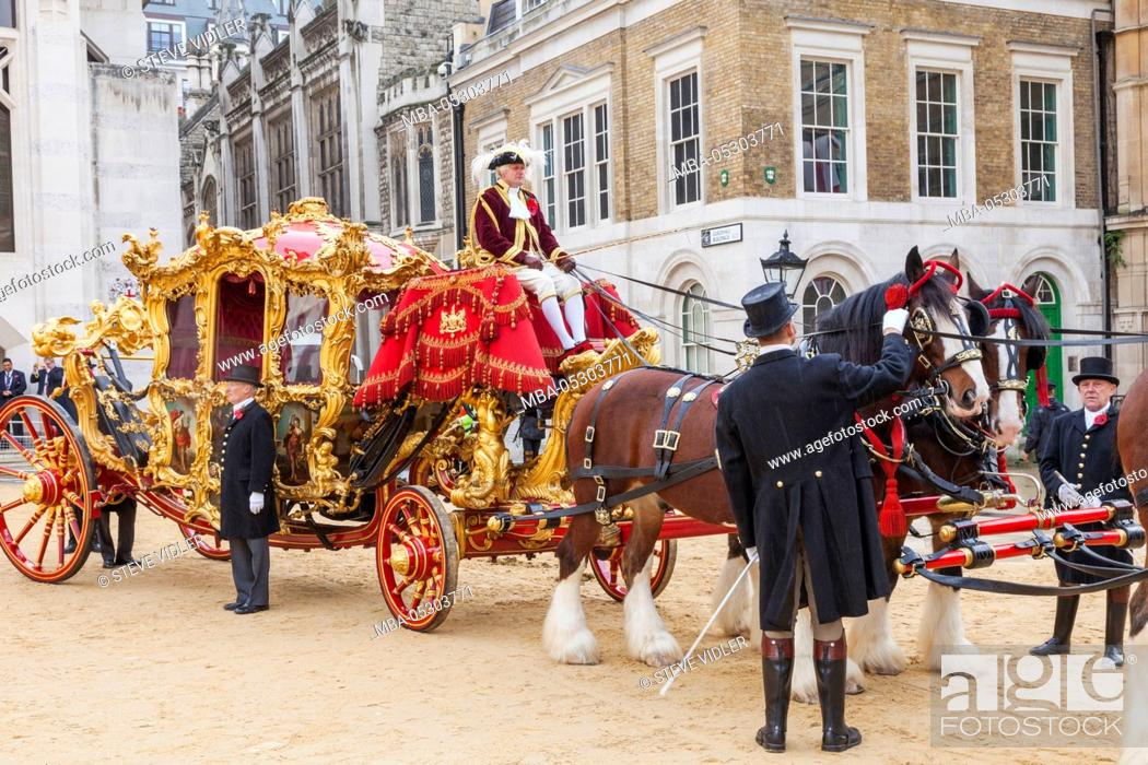 Stock Photo: England, London, The Lord Mayor's Show, Lord Mayor's State Coach.