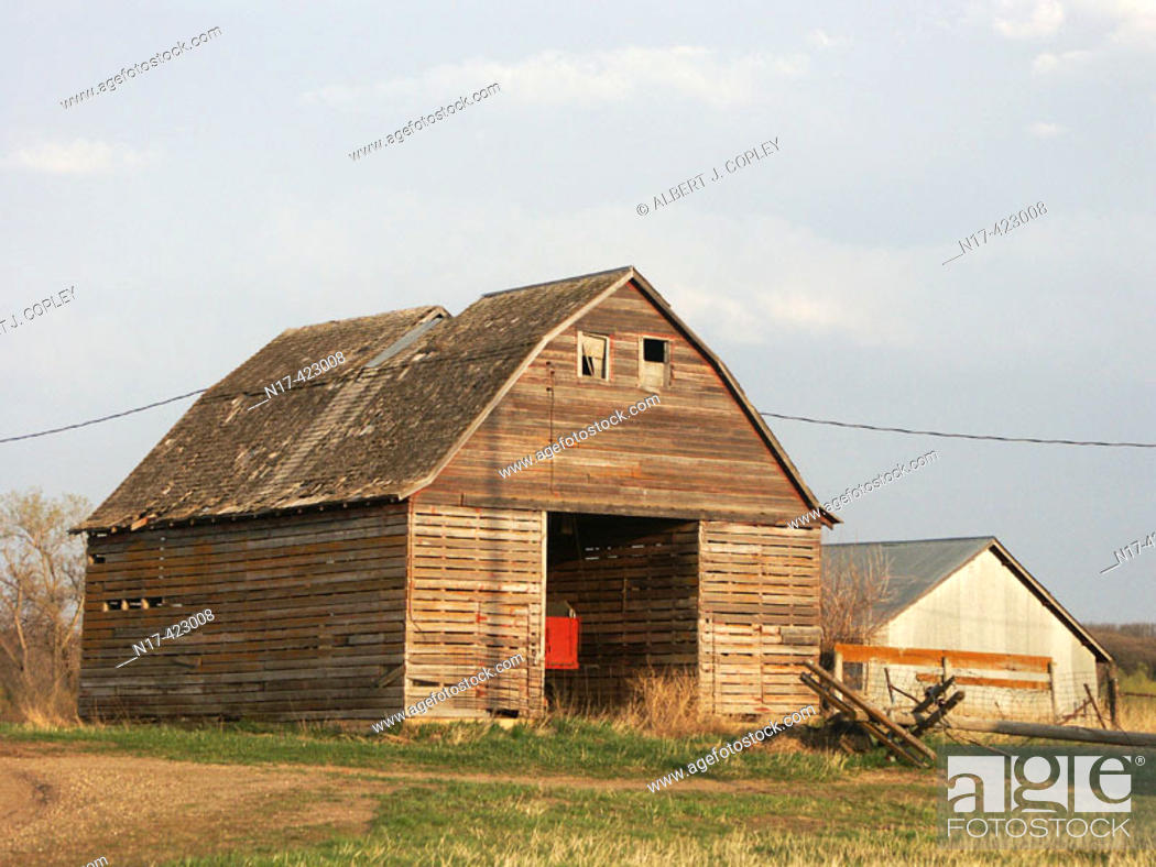 Stock Photo: old barn, central United States.