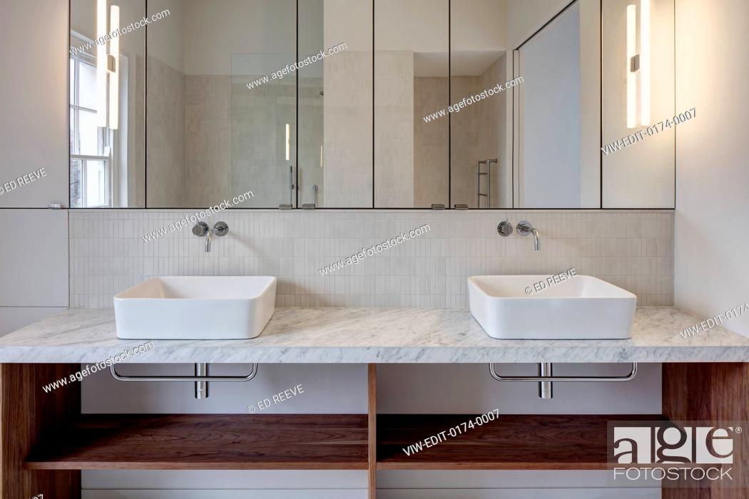 Stock Photo: Bathroom detail. Residence Ockendon Road, London, United Kingdom. Architect: APA London , 2016.