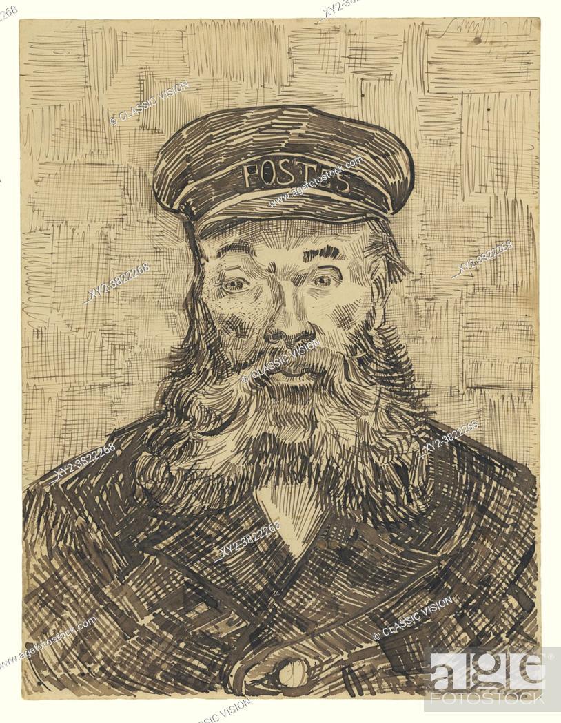 Stock Photo: Portrait of Joseph Roulin by Vincent van Gogh. Vincent van Gogh, 1853 - 1890, Dutch Post-Impressionist artist. Joseph Roulin was a close friend of van Gogh's.