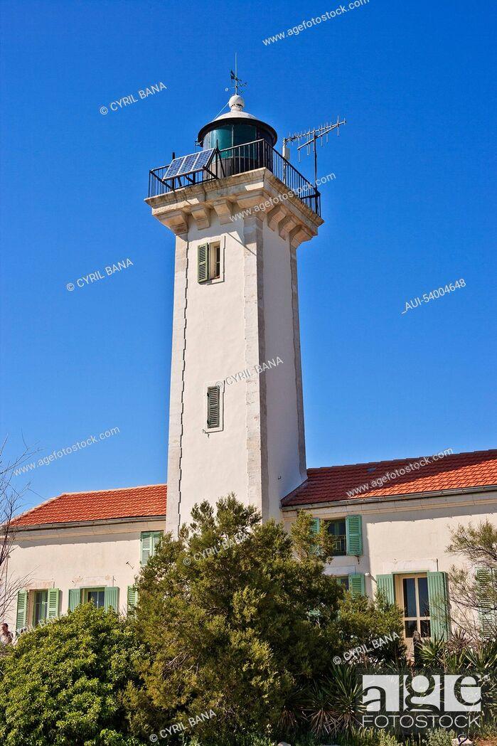 Stock Photo: France, Camarque, Saintes-Maries-de-la-Mer, tower.