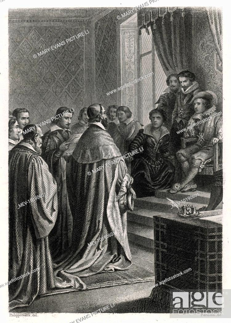 Louis Xiii Listens To The Remonstrances Of A Delegation From