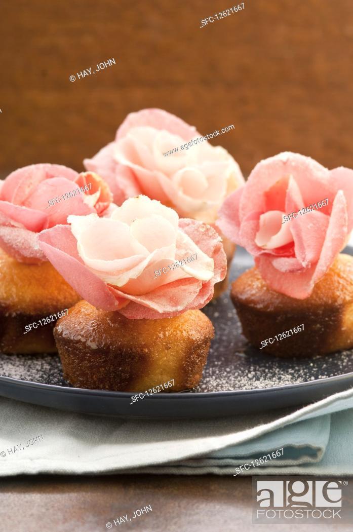 Stock Photo: Easter semolina cupcakes.