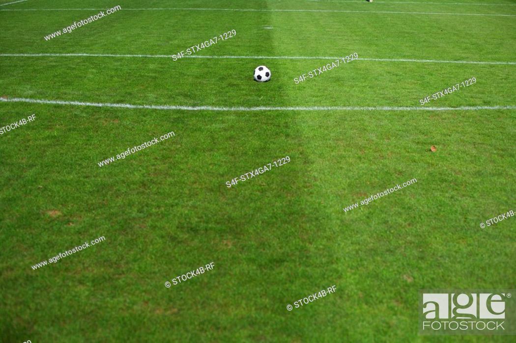 Stock Photo: Ball lying on center spot.