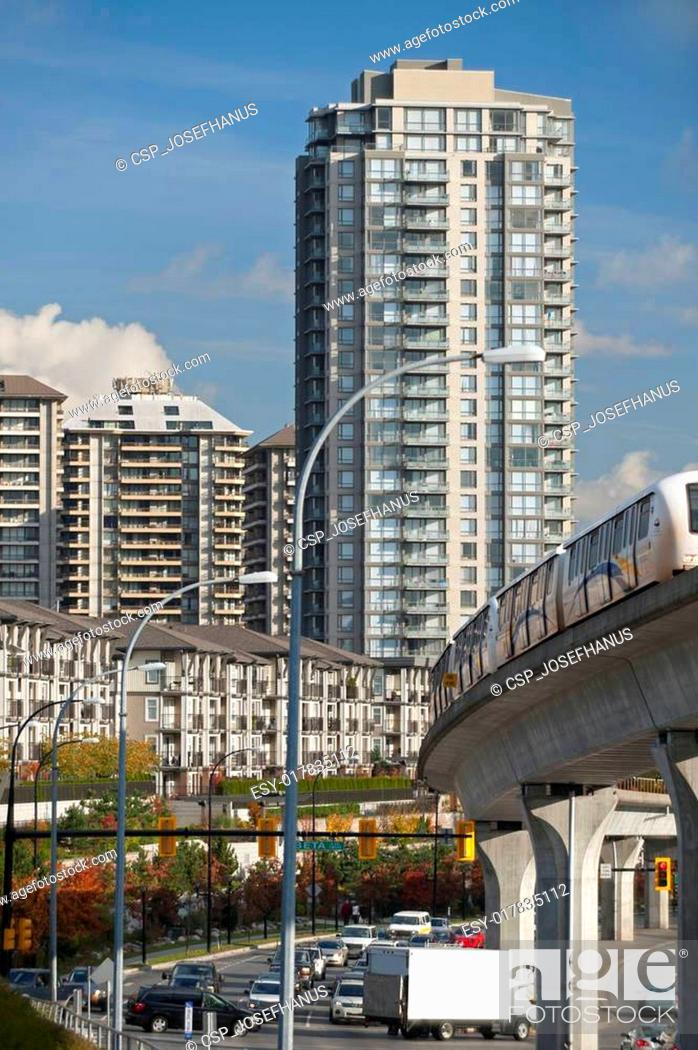 Stock Photo: Modern buildings and townhouses in Canada.