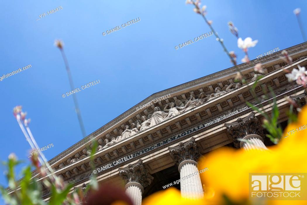 Stock Photo: Madaleine Church, Paris, France.
