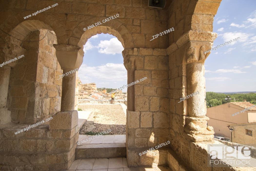 Imagen: Our Lady of Rivero church in San Esteban de Gormaz village Soria province Castile Leon Spain.