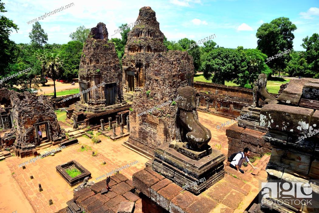 Stock Photo: Pre Rup temple, Angkor area, Siem Reap, Cambodia.