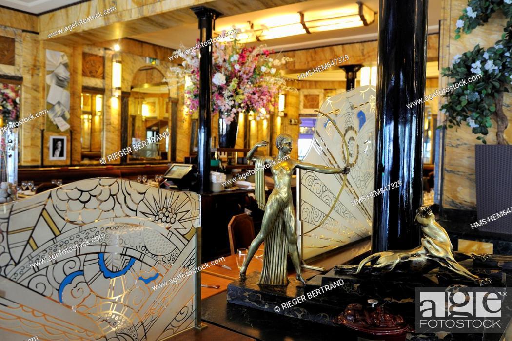 France Paris Restaurant Art Deco Le Vaudeville Rue Vivienne Stock Photo Picture And Rights Managed Image Pic Hms Hem647329 Agefotostock