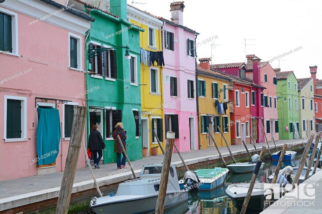 Stock Photo: Burano, Venice, Veneto, Italy.