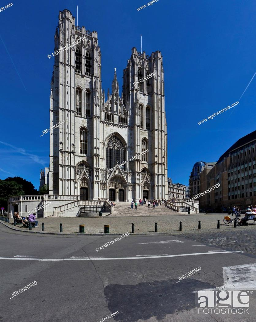 Photo de stock: St. Michael and St. Gudula Cathedral, Brussels, Belgium, Benelux, Europe.
