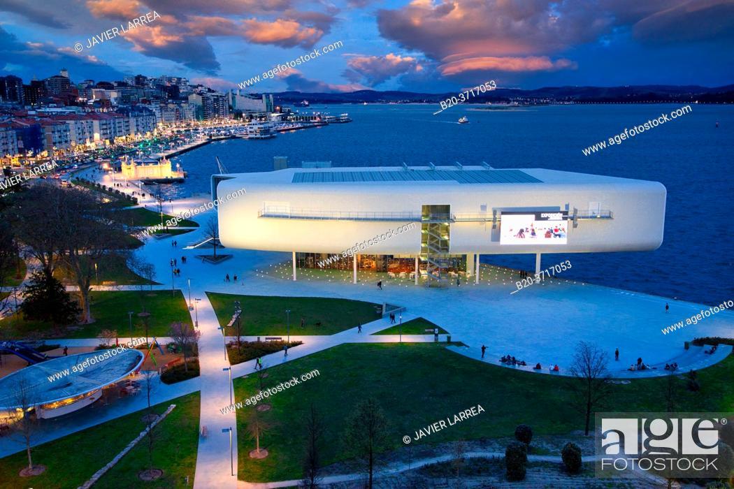 Stock Photo: Botin Center Museum Art and Culture, Architect Renzo Piano, Jardines de Pereda, Santander, Cantabria, Spain, Europe.