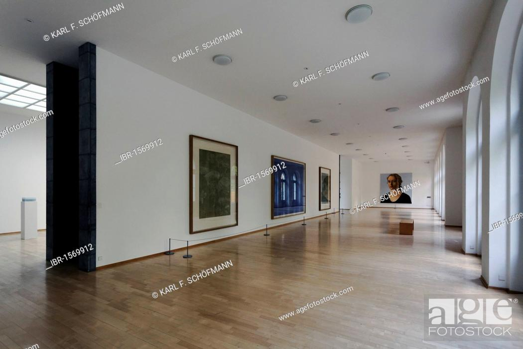 Photo de stock: Exhibition space with modern art in the Kurhaus Kleve art museum, Kleve, Niederrhein region, North Rhine-Westphalia, Germany, Europe.