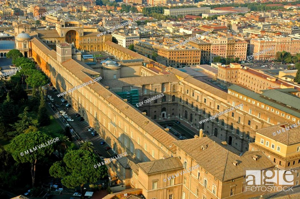 Stock Photo: aerial view of Rome,Italy,europe.