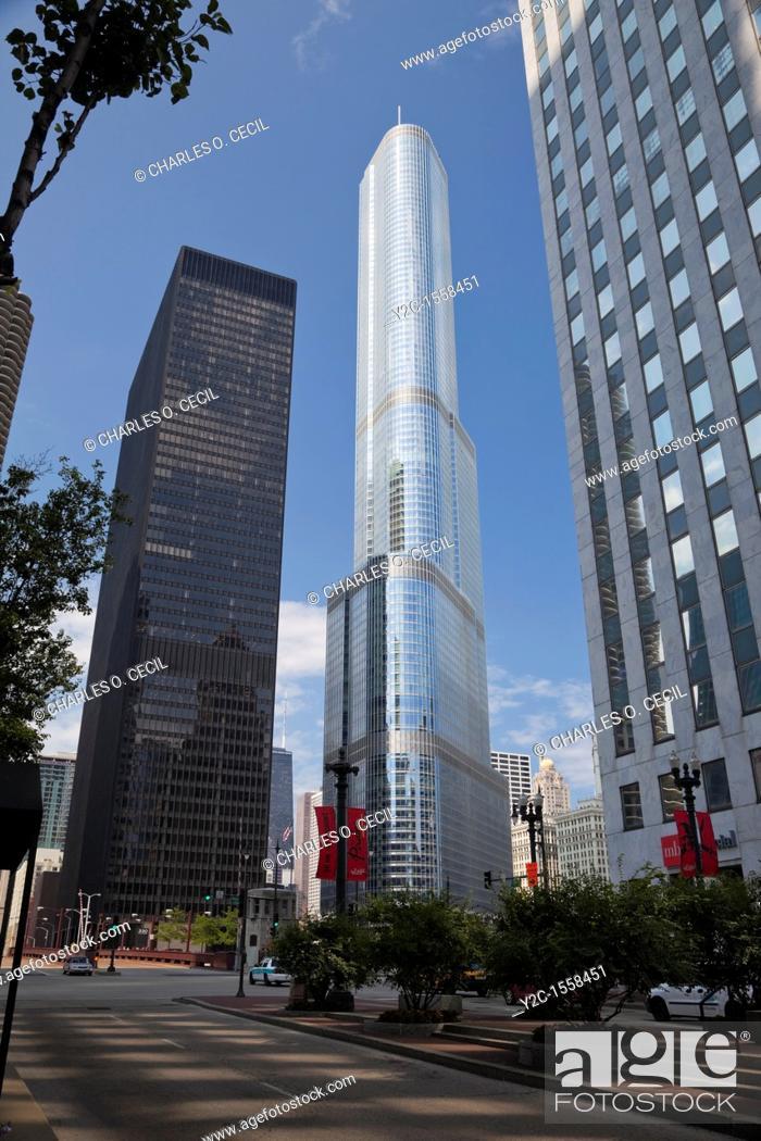 Stock Photo: Chicago, Illinois  Trump Tower.