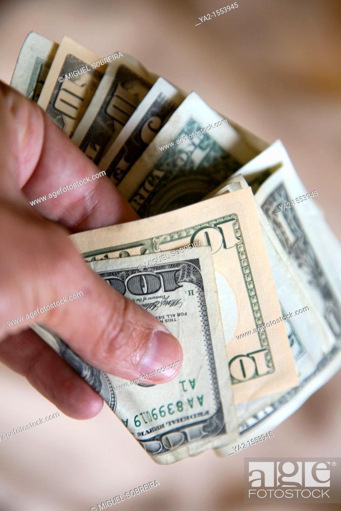 Stock Photo: American Dollars.
