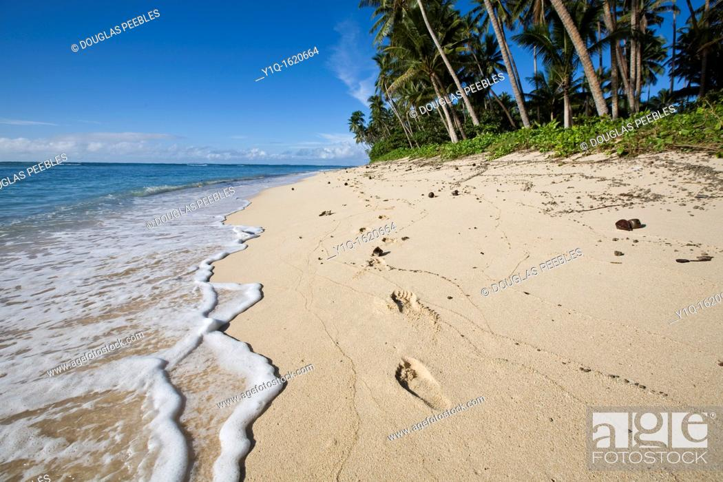 Stock Photo: Lavena Beach, Taveuni, Fiji.
