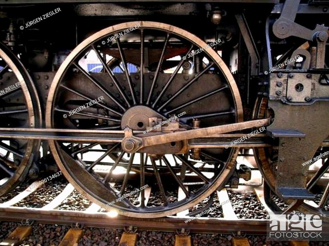 Stock Photo: dampflokomotive.